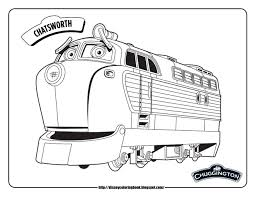 Coloriage Train Chuggington Tranquille Disney Chuggington Coloring