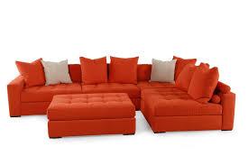 jonathan louis noah orange sectional mathis brothers furniture
