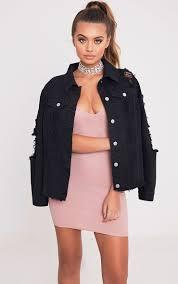 women u0027s denim jackets cropped u0026 ripped prettylittlething usa