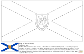 Click The Flag Of Nova Scotia Coloring Pages