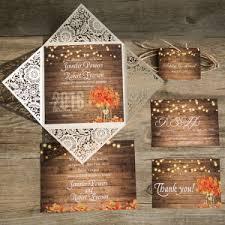 Dreaded Rustic Fall Wedding Invitations