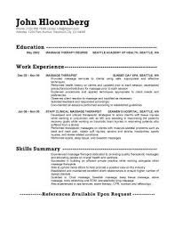 Resume For Therapist