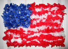 Art And Crafts Tissue Paper American Flags
