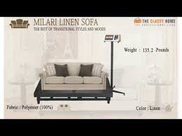 milari linen sofa youtube