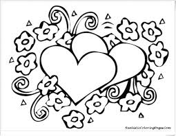 Valentine Coloring Pages Pdf Sheets Free Printable Hello Kitty Valentines Hearts Blank