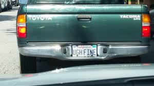This is the most Californian California license plate I ve ever