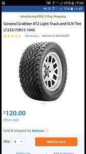 General Grabbers VS Goodyear Wrangler Radical - Jeep Cherokee Forum