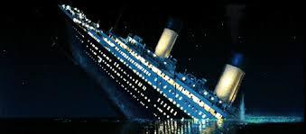 titanic sinking gif