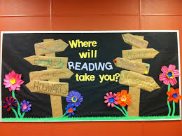 Spring Library Bulletin Board Inspired By Various Other Pinners Close Ups Of Signs Are