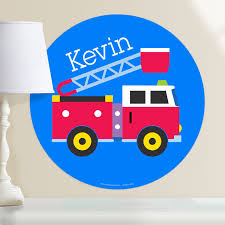 100 Fire Truck Wall Decals Heroes Truck Personalized Kids Dotz Decal Art Appeel