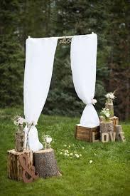 Outdoor Rustic Wedding Decoration Altar More