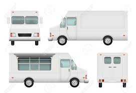 100 Food Delivery Truck Realistic White Automobile Of Street