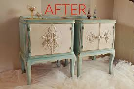 After Elegant Vintage Nightstands
