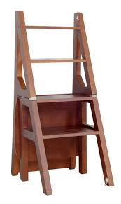 Details About Solid Wood Step Stool Folding 4 Tier Ladder Chair Bench Seat  Multi-functional