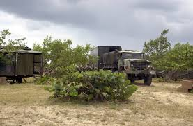 100 Army 5 Ton Truck A US USA MKT8 Field Kitchen And An M923 Ton Cargo Truck