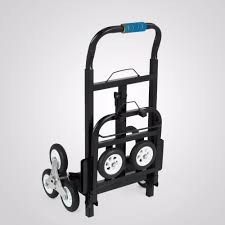 Foldable Folding Stair Climbing Hand Truck Luggage Cart With Backup ...