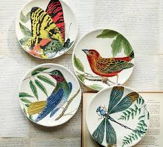 Fauna Salad Plate Set of 4