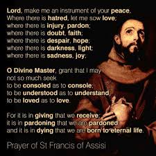 the peace prayer of st francis of assisi compass quill