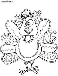 Thanksgiving Coloring Pages Free From Doodle Art Alley