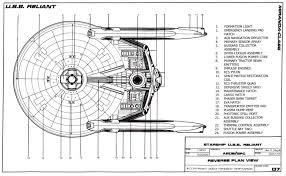 Starship Deck Plan Generator by Star Trek Blueprints Miranda Class Starship U S S Reliant Ncc 1864