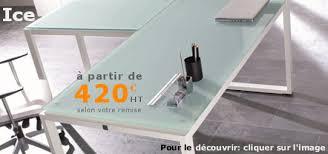table bureau verre mobilier de bureau professionnel et de direction design de à