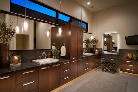 Double Sink Vanity With Dressing Table by Double Sink Vanity With Makeup Table Bathroom Contemporary With