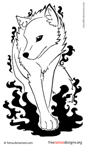 Wolf Tattoo Design Colorful Feminine