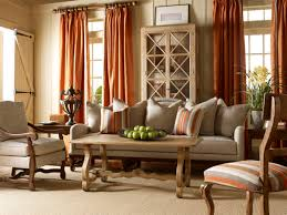 Country Living Room Ideas For Small Spaces by Grey Sofa With Cushions And Rectangular Grey Wooden Table On Grey