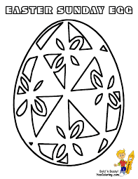 Fancy Easter Egg Coloring At YesColoring