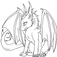 Dragon Coloring Page Ba Pages Download Cartoon Of Animals