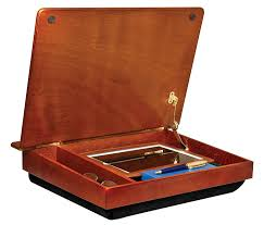 amazon com lapdesk schoolhouse wood lapdesk with storage 45075