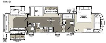 Fifth Wheel Bunkhouse Floor Plans by New 2015 Forest River Rv Sandpiper 365saqb Fifth Wheel At Big
