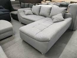ecksofa grau hell sofa mit hocker wohnzimmer möbel wurm