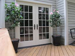 Outswinging French Patio Doors by White Masonite Interior Doors