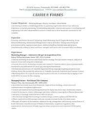 Career Objective For Marketing Resumes On Resume Retail Medical Assistant Car Large Size