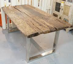 esstisch tisch tafel rittertafel massiv rustikal esszimmer küche holt chrom metall