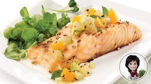 pavés de saumon salsa au fenouil et à l orange recette iga