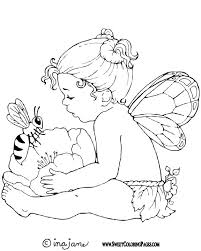 Fairy Coloring Page To Print Out And Color Picture Bee