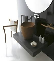 wohlfühl badezimmer einrichtung in rustikalem stil ergo