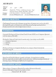 New Resumes Format Standard Of Resume Sample For Teachers In India