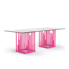 100 1 Contemporary Furniture Ultra Modern Dining Table Neon Pink Hot Pink Moderne Design