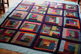 NYC Metro Modern Quilters Guild Knitted Log Cabin