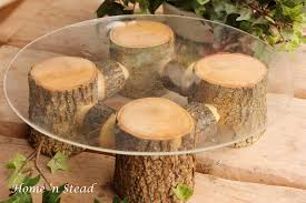 Rustic Wedding Cake Stand Table Decoration Ash Wood Cupcake Tray