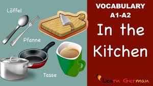 learn german german vocabulary in der küche in the kitchen a1
