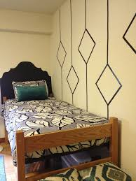 Simple Geometric Wall Designs Washi Tape HeadboardDiy