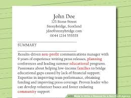 Image Titled Write A Resume For Non Profit Agency Step 8