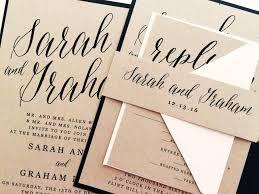 Wedding Invitation Invite Modern Calligraphy Invitations Kraft Suite