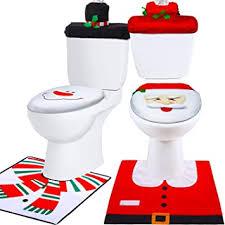 badezimmer set weihnachtsdeko schneemann toiletten sitzbezug