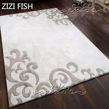 neuesten europäischen mode teppich weiß grau die wohnzimmer das schlafzimmer rechteck teppich vertraglich acryl teppiche