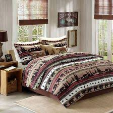Bedding Set forter Queen Sets Bed Rustic Wildlife Nature Lodge